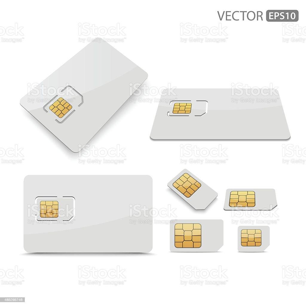 Sim card.vector vector art illustration