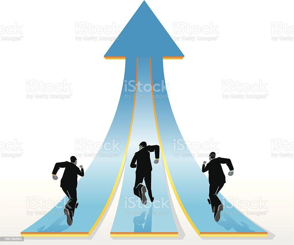 Similar Business Goals royalty-free stock vector art