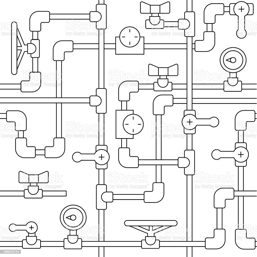 Simles pattern pipe vector art illustration