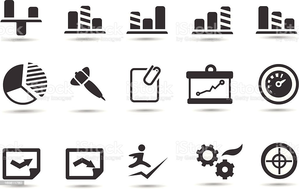 SImple Analytics Icons royalty-free stock vector art