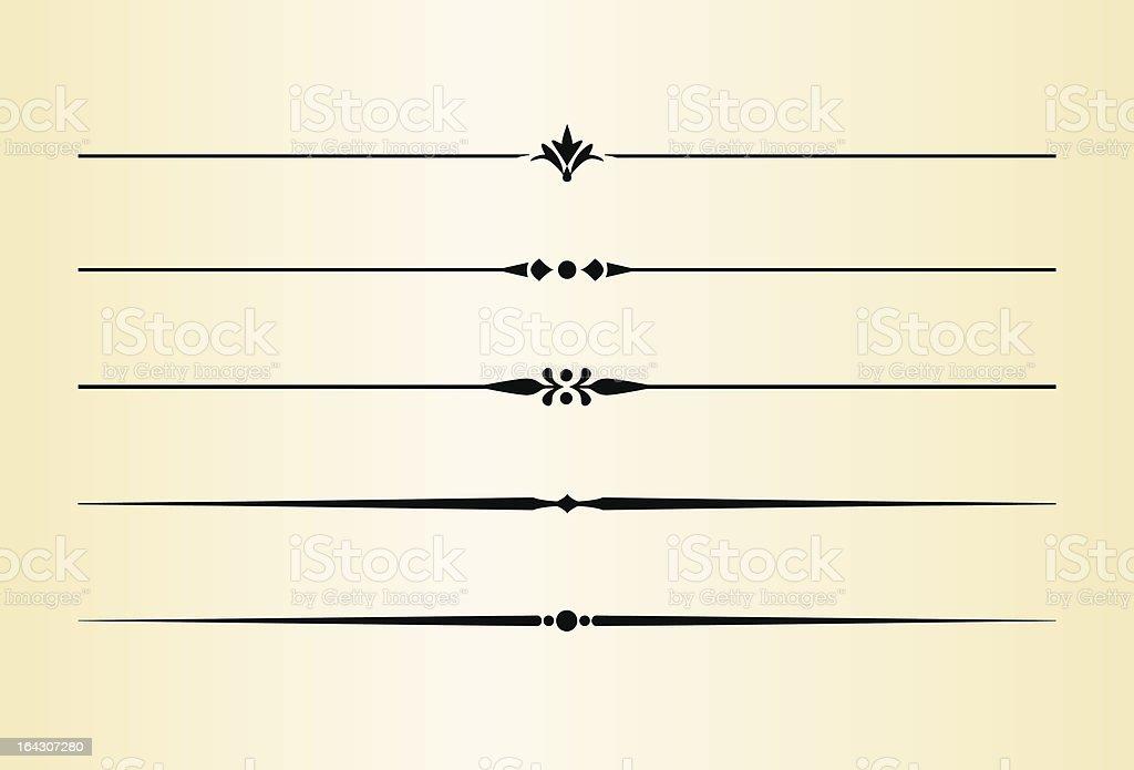 Simple and elegant dividing lines vector art illustration