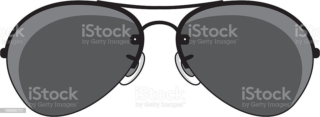 Simple Aviator Sunglasses royalty-free stock vector art
