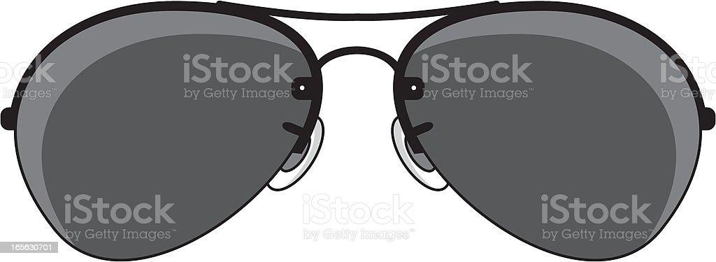 Simple Aviator Sunglasses vector art illustration