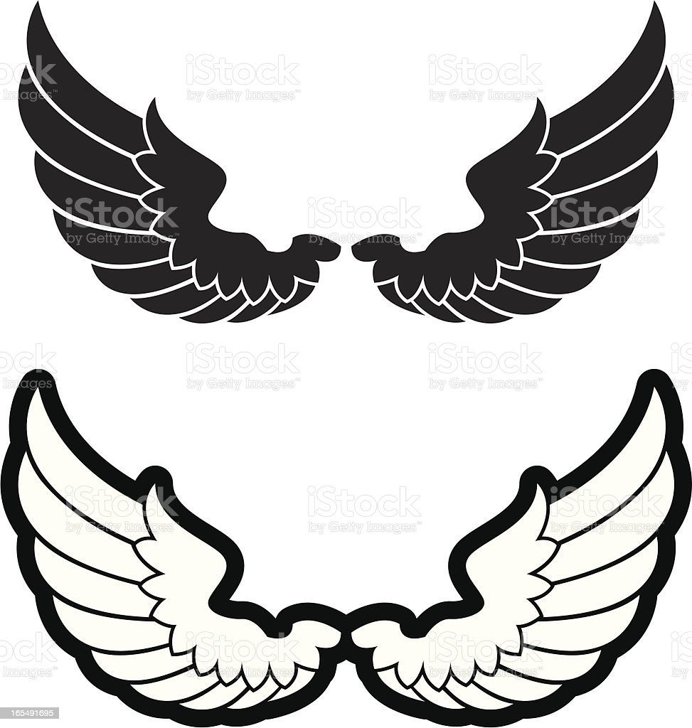 Simple bird wings royalty-free stock vector art