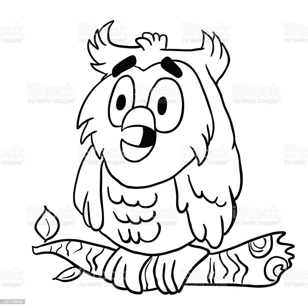simple black and white owl vector art illustration