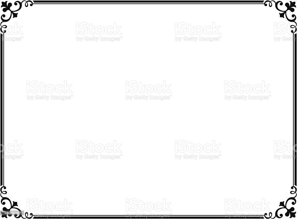 シンプルなブラックのモデル装飾フレーム のイラスト素材 480851521   iStock