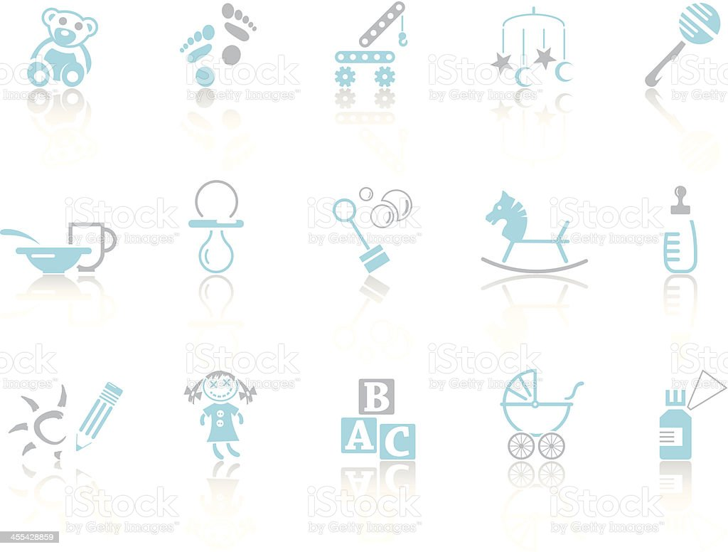 Simple blue – Childhood royalty-free stock vector art