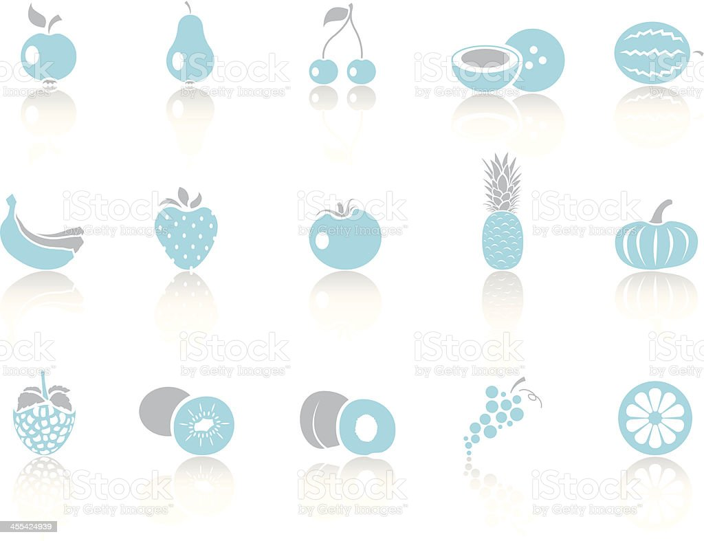 Simple blue – Fruits royalty-free stock vector art
