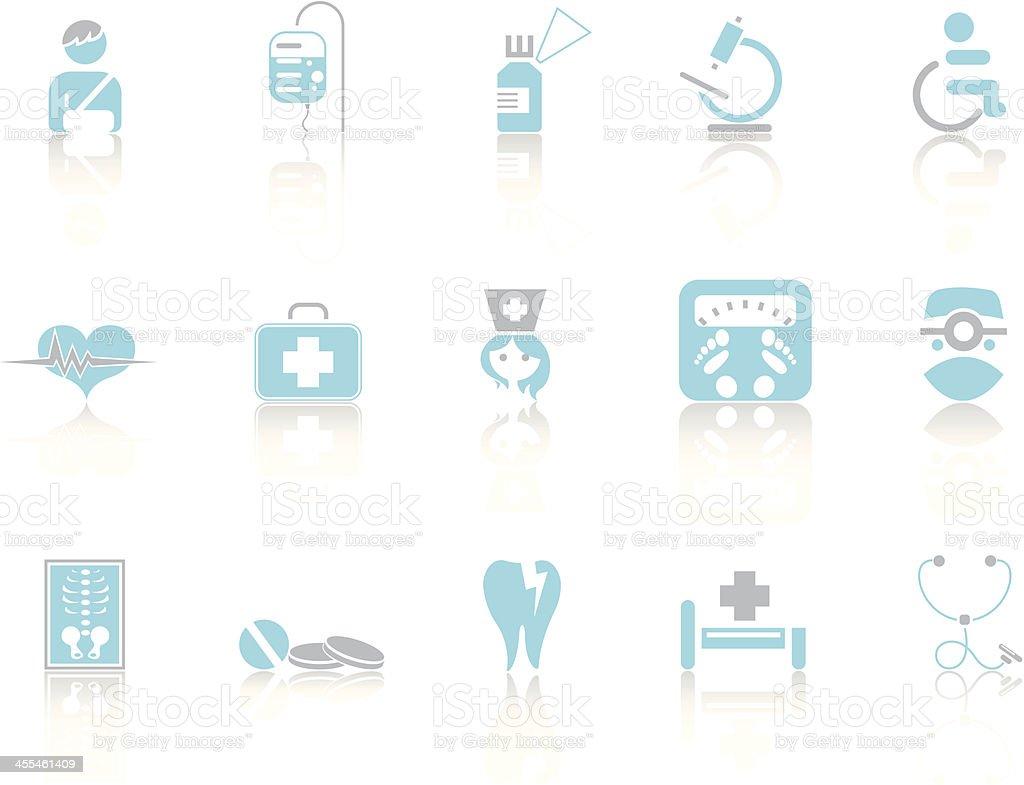Simple blue – Medicine vector art illustration