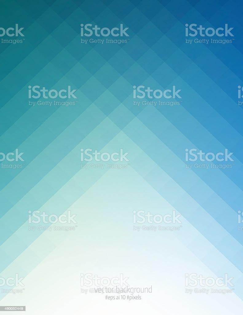 Simple blue pixels background vector art illustration
