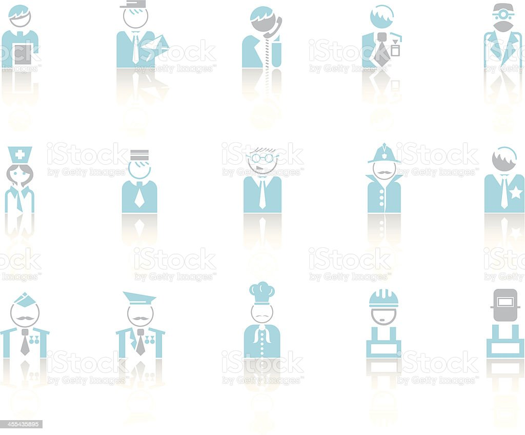 Simple blue – Profession vector art illustration