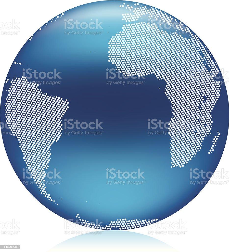 Simple Blue world globe royalty-free stock vector art