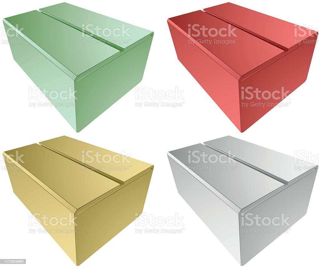 simple box royalty-free stock vector art