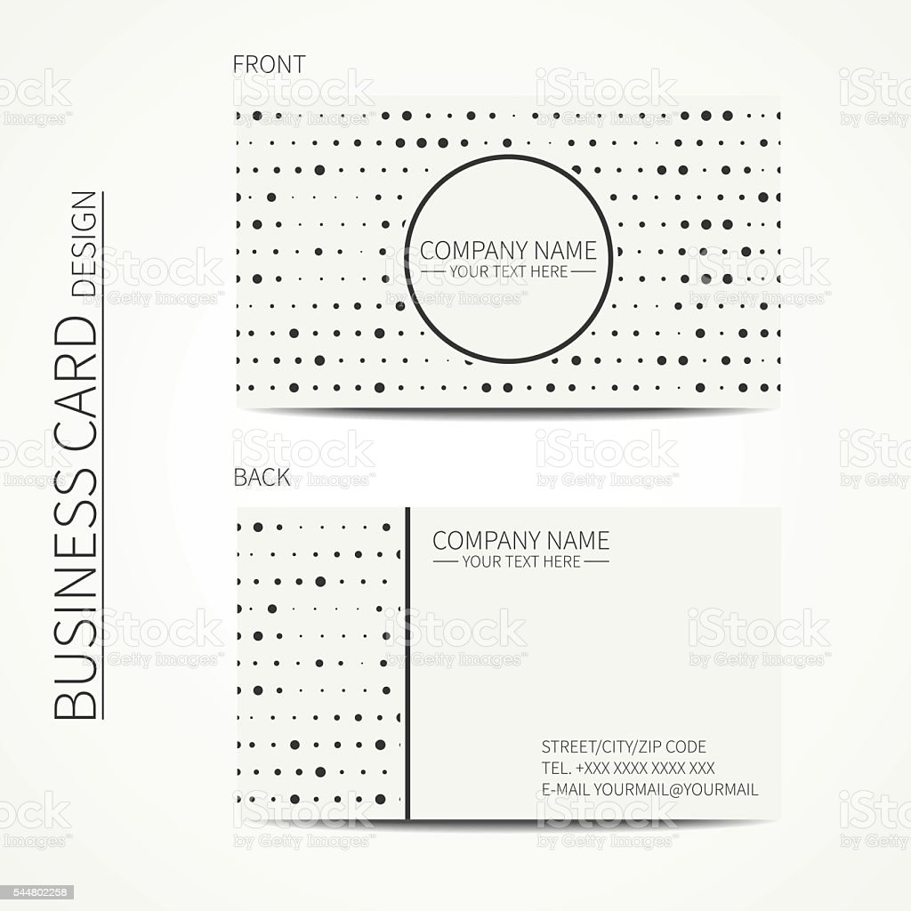 Simple business card design for corporate business and personal use. vector art illustration