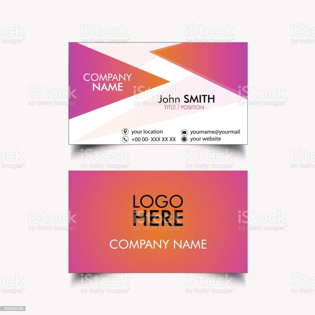 Simple Business Card vector art illustration