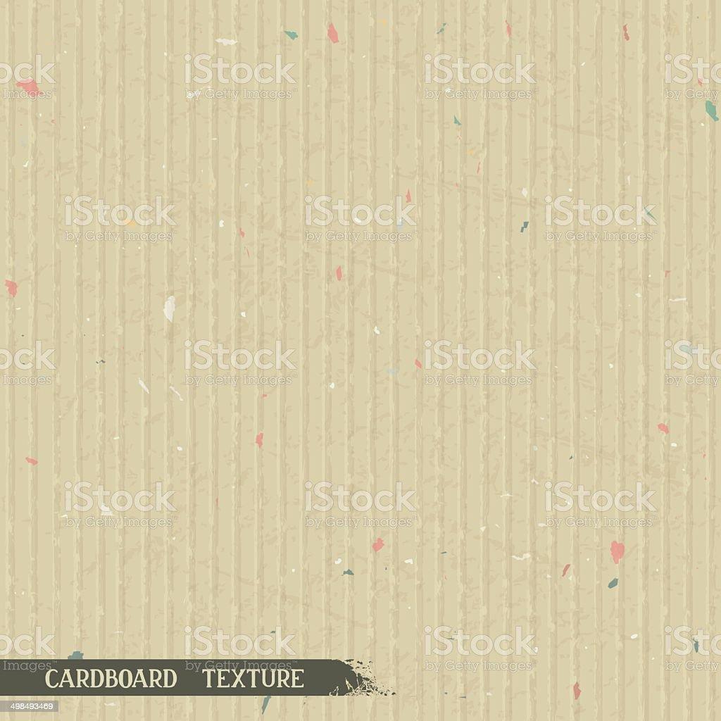 Simple cardboard texture vector art illustration