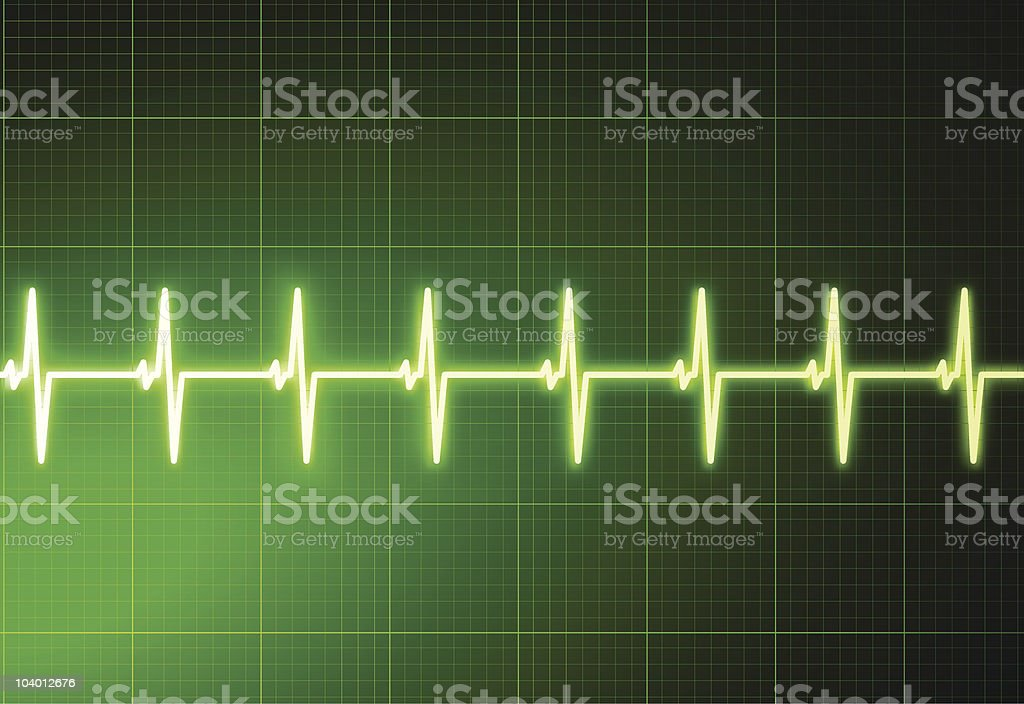 Simple cardiogram green medical background royalty-free stock vector art