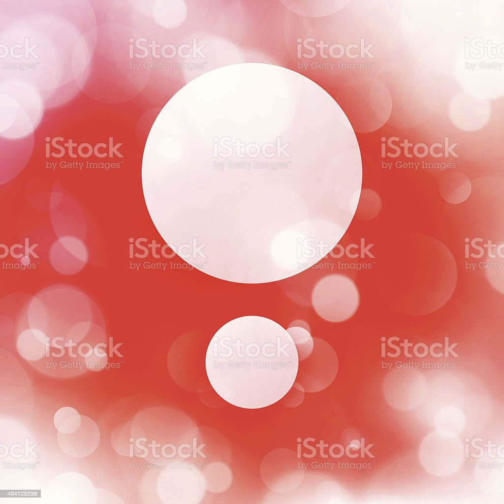 Simple Christmas Layout Copy Space Between White Blurry Defocus Lights royalty-free stock vector art
