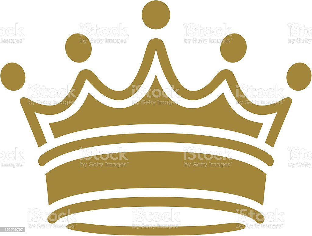simple classic crown vector art illustration