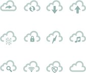 Simple Cloud Icons