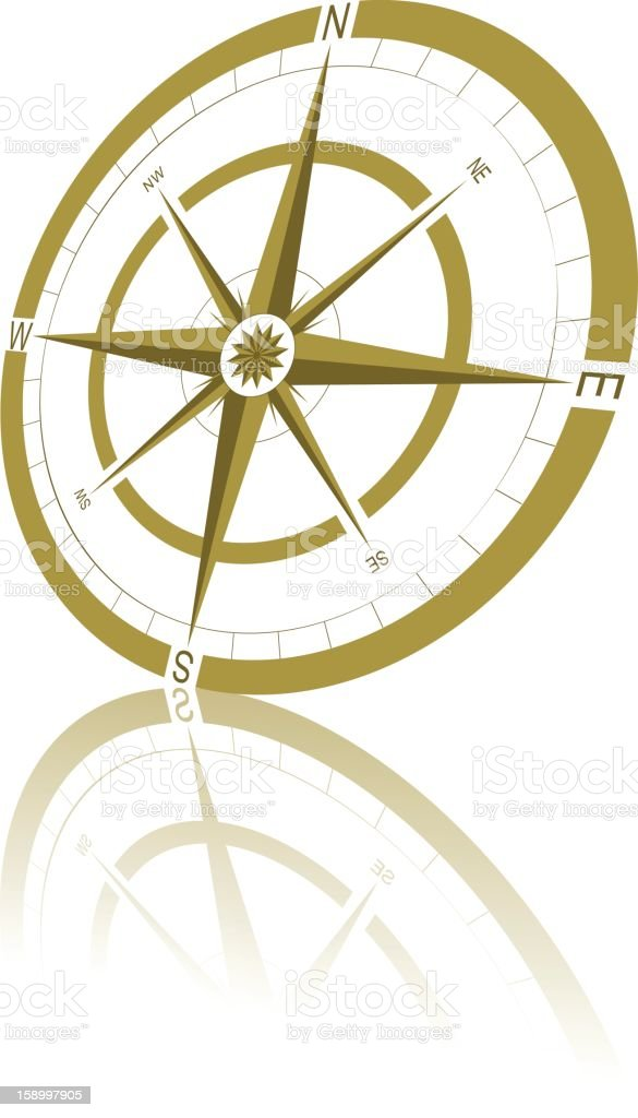 Simple Compass royalty-free stock vector art