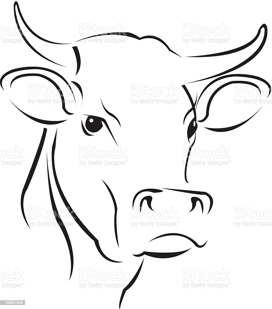 simple cow royalty-free stock vector art