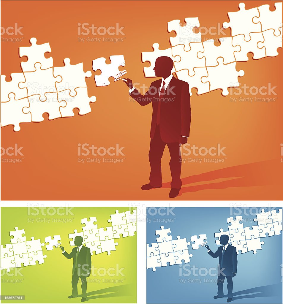 Simple Draw the Solution royalty-free stock vector art