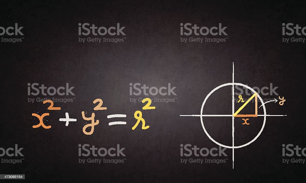 Simple equation of circle vector art illustration