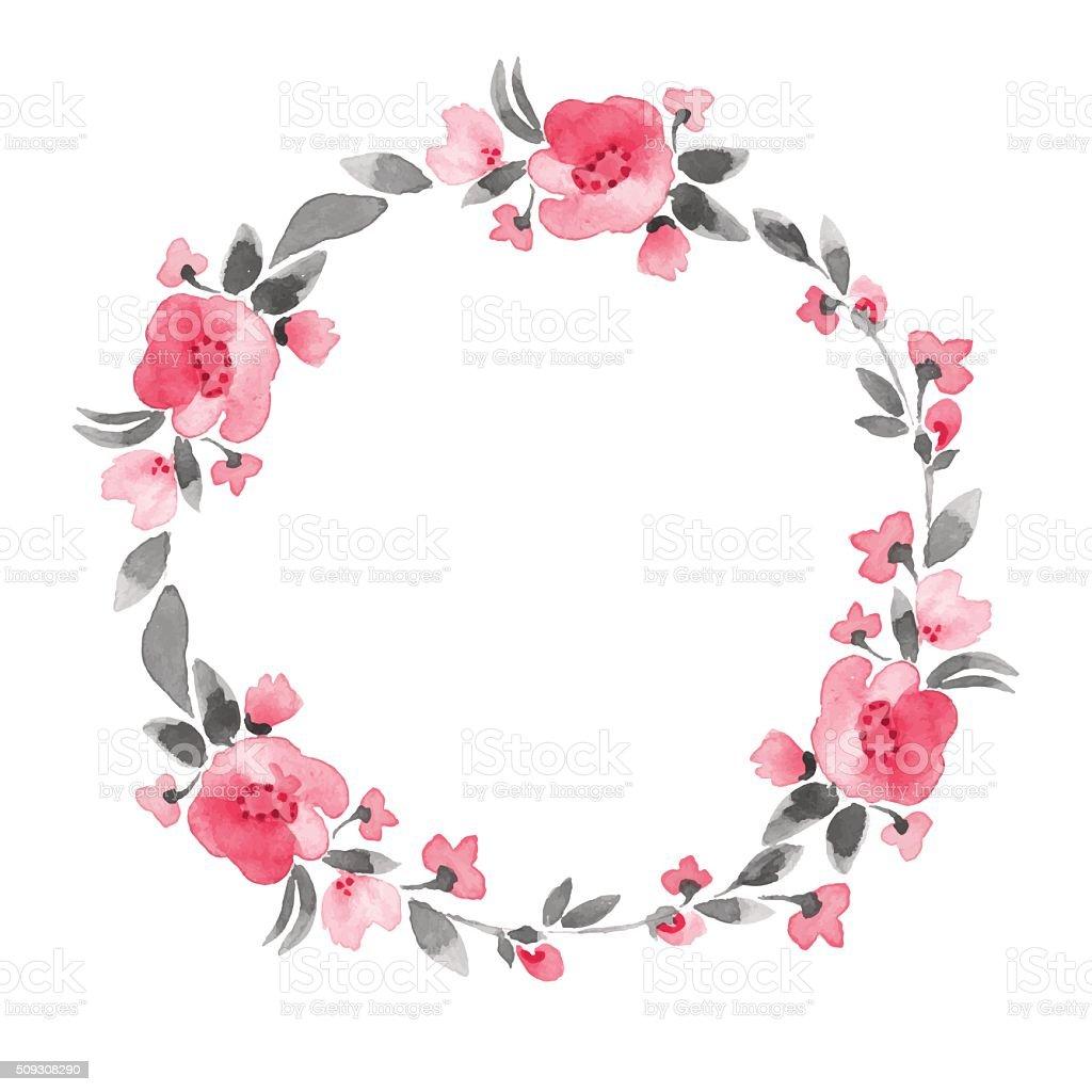 Simple flores vector de de corona 4 pulg illustracion - Coronas de flore ...