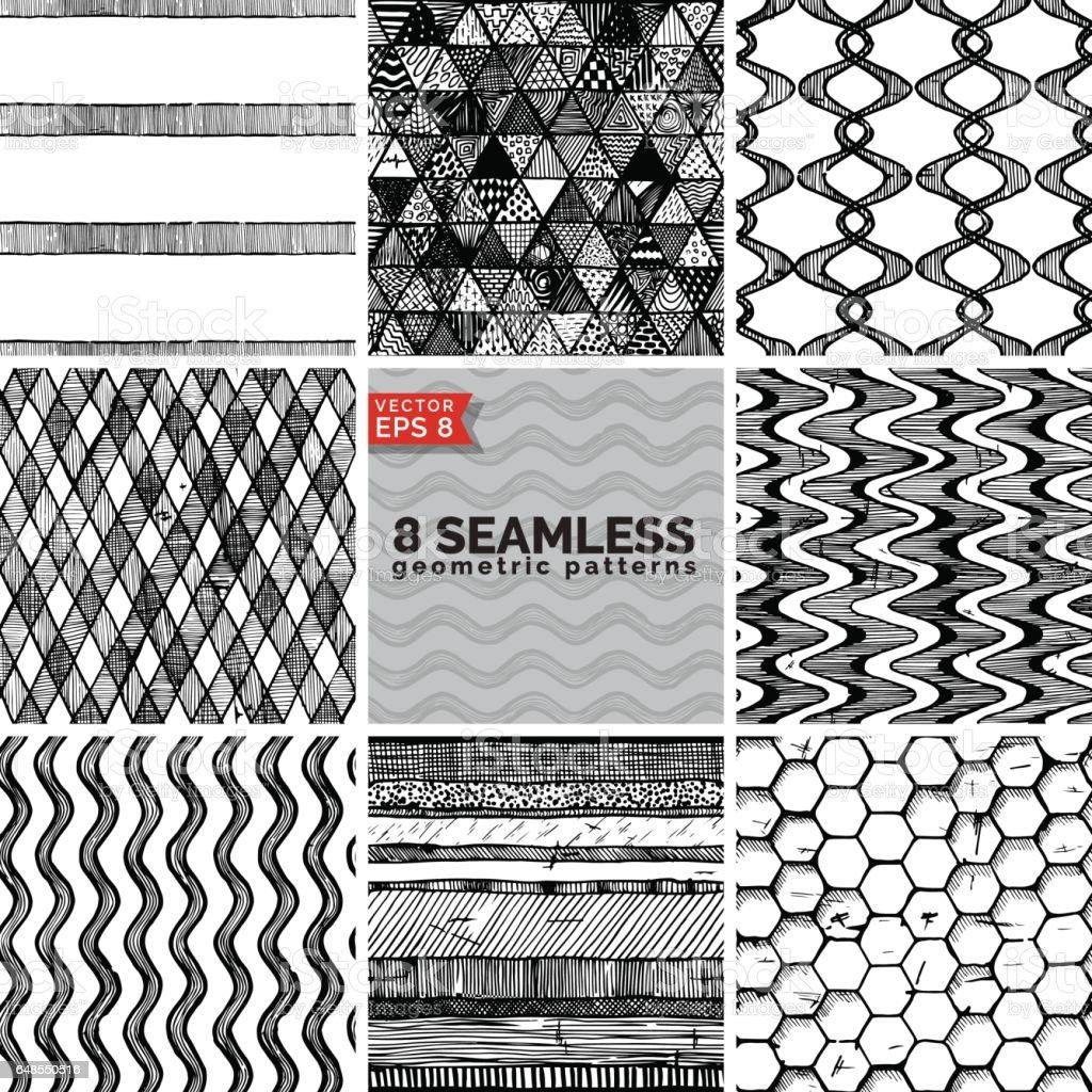 Simple geometric pattern. vector art illustration