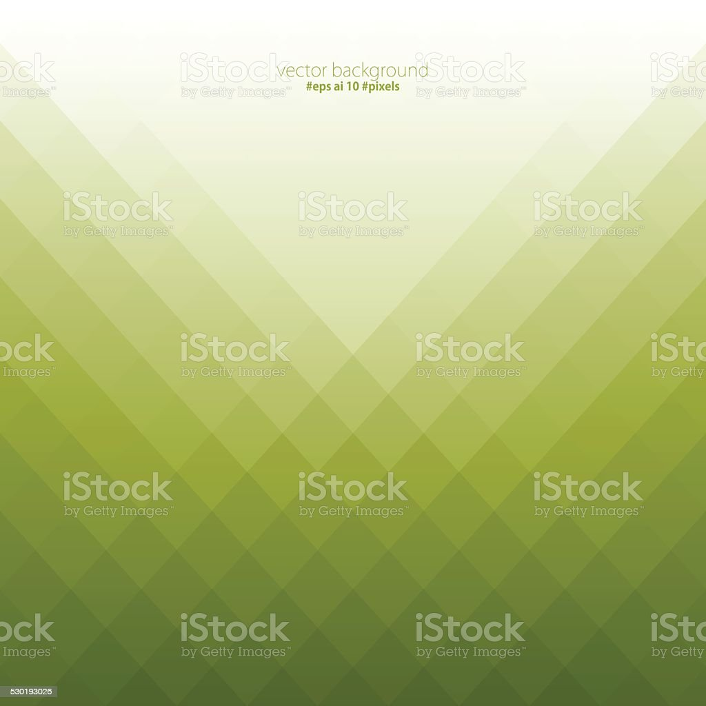 Simple green color pixels background vector art illustration