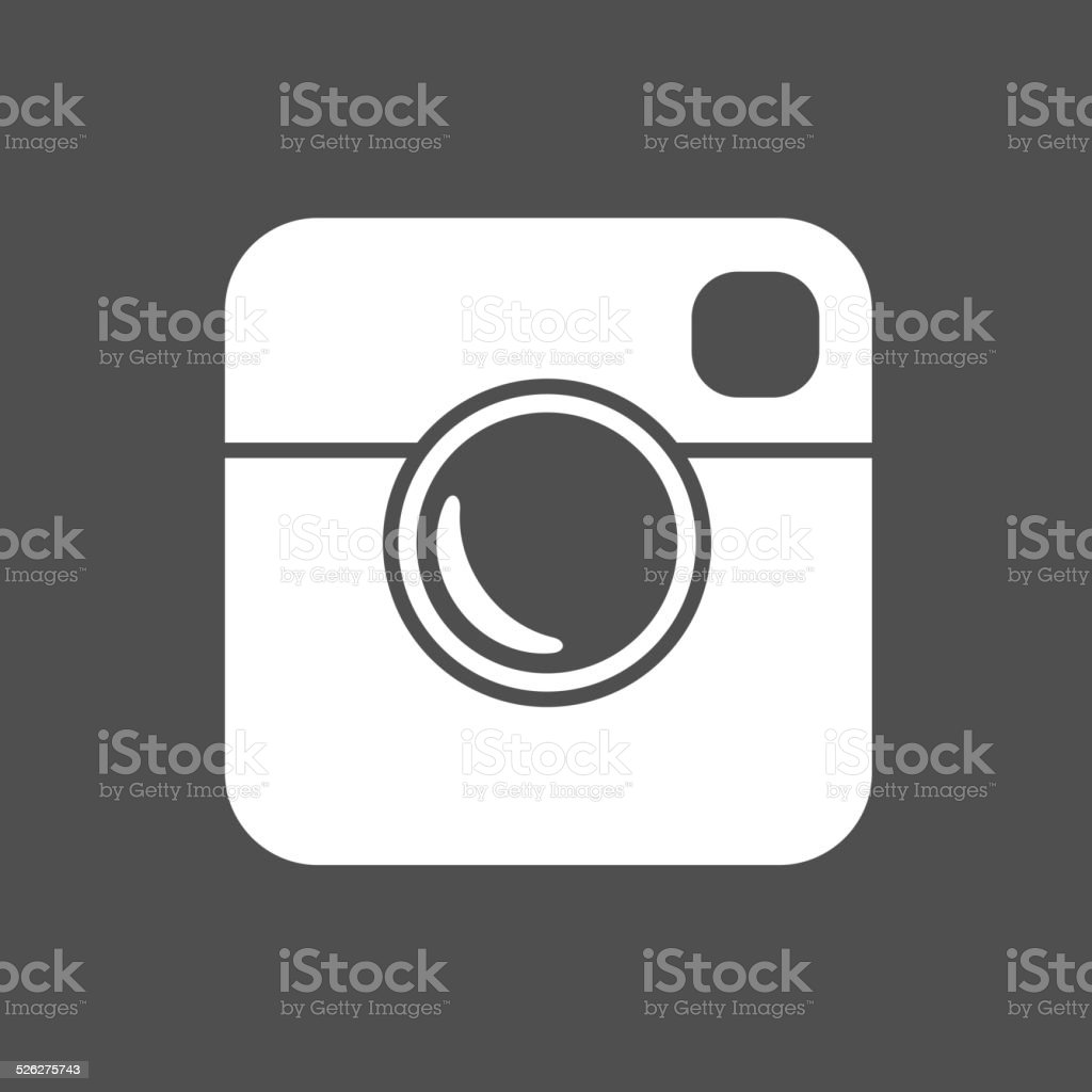 Simple Hipster Photo Icon vector art illustration