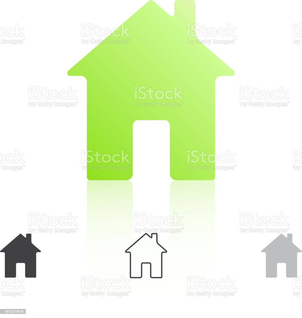 Simple house icon vector art illustration