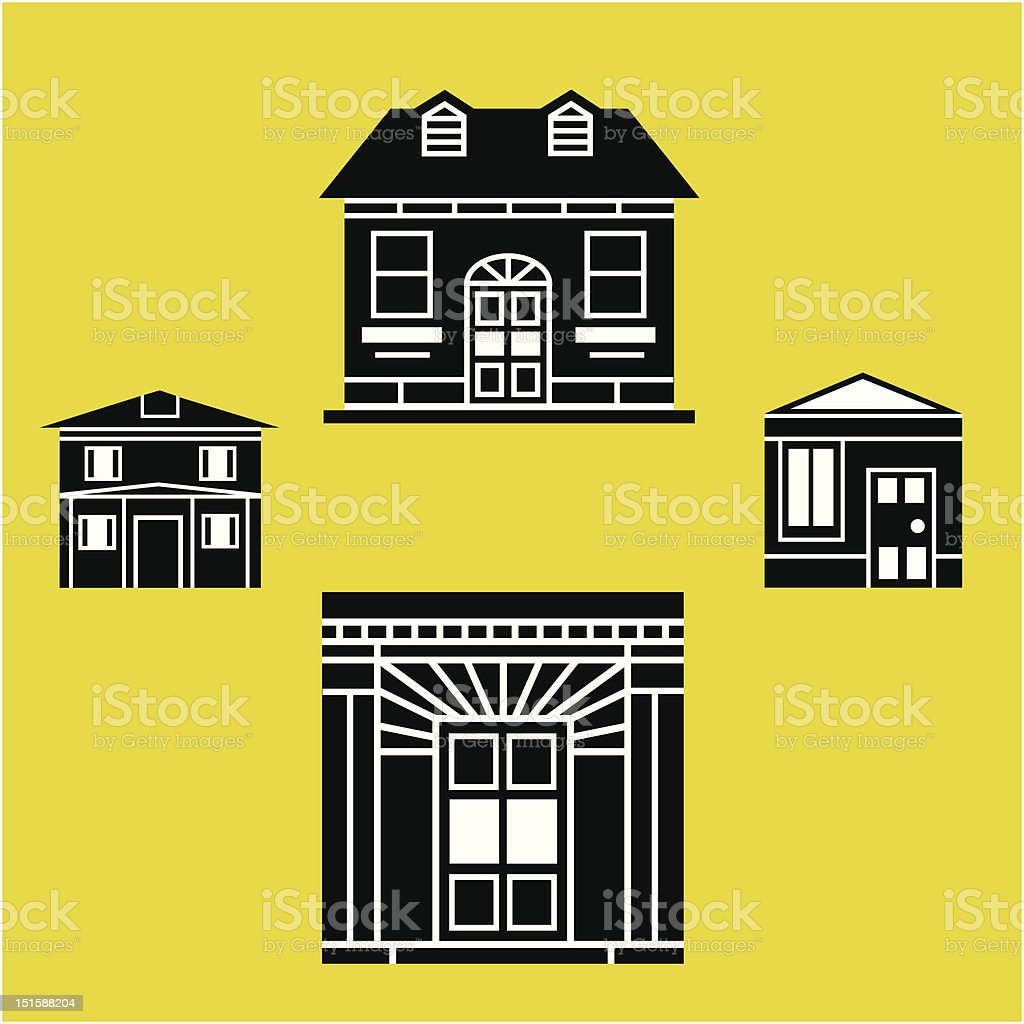 simple house illustrations royalty-free stock vector art