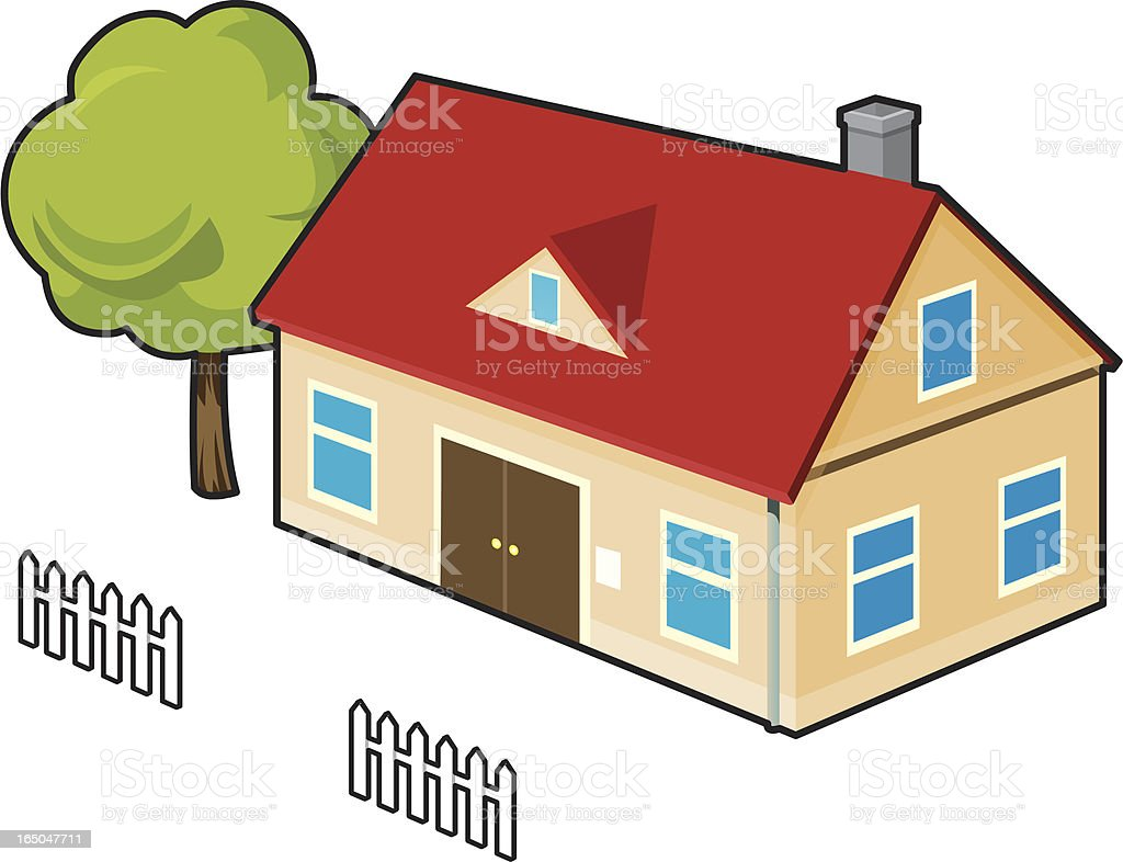 Simple House royalty-free stock vector art