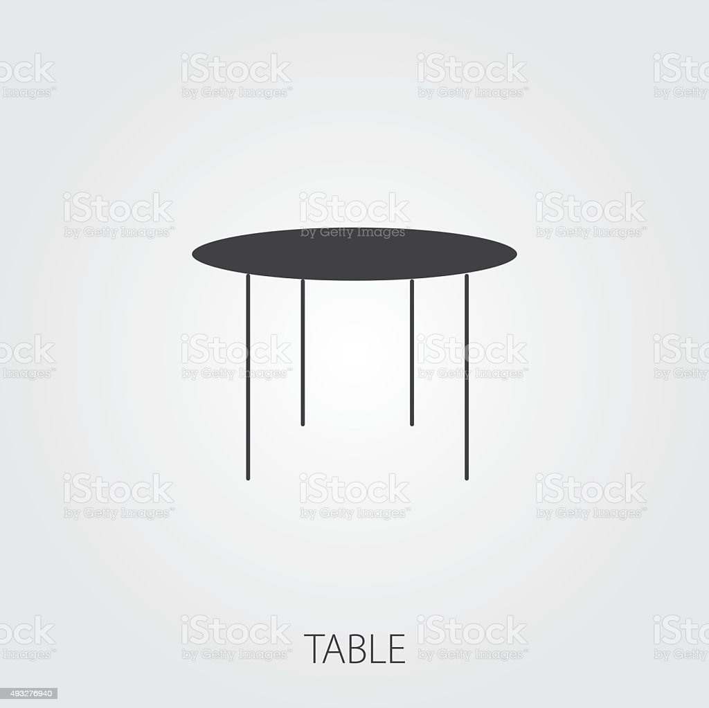 Simple table free other icons - Simple Household Web Icons Table Royalty Free Stock Vector Art