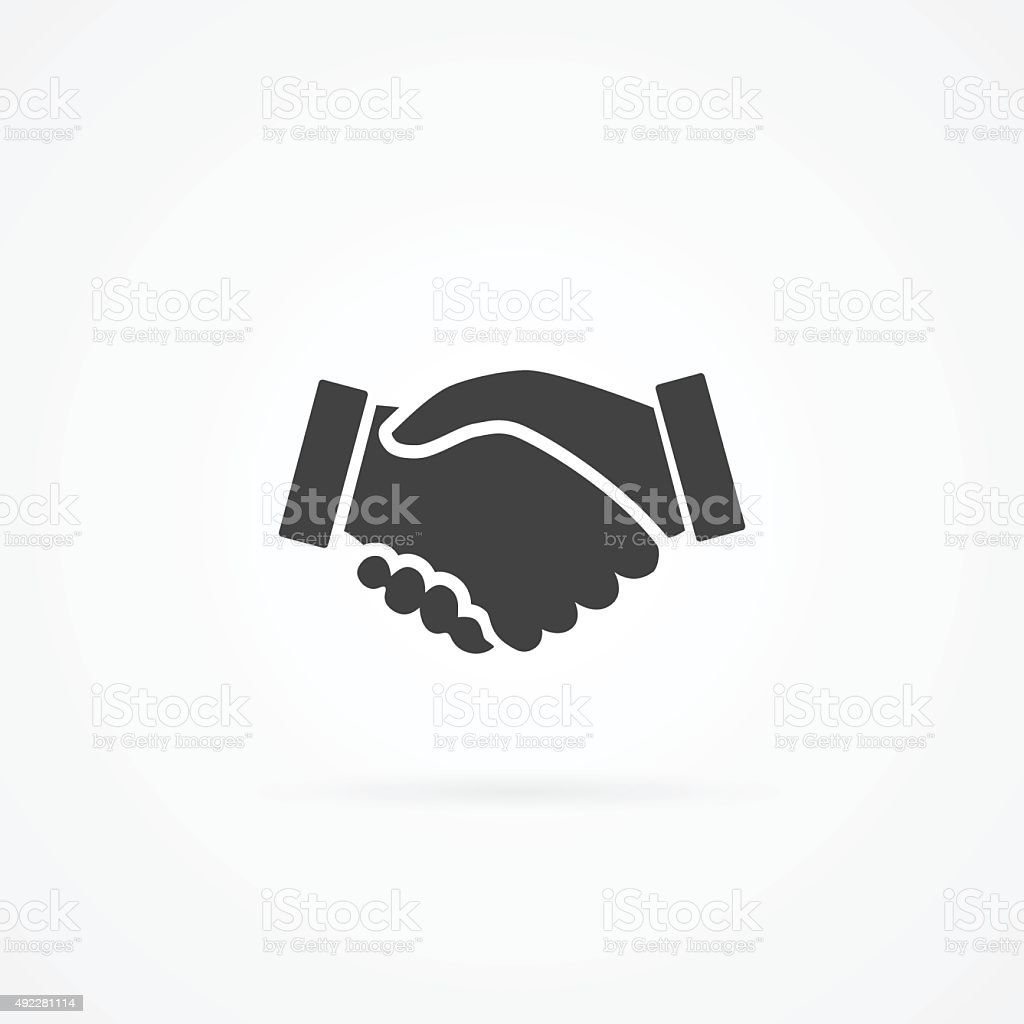 Simple icon of handshake. vector art illustration