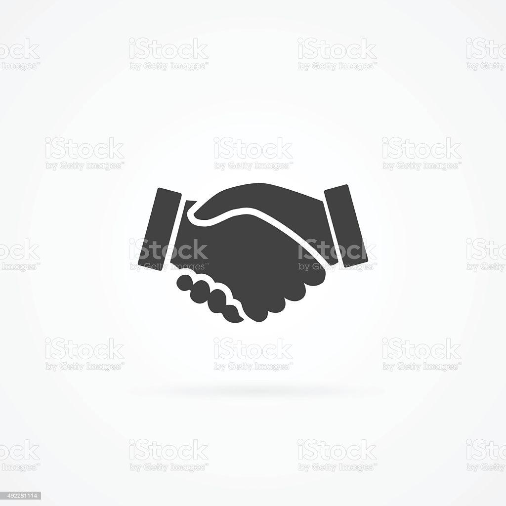 Simple icon of handshake. vector art illustration