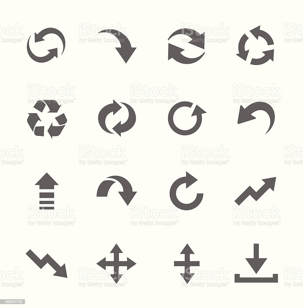 Simple Icon set related to Interface Arrows vector art illustration