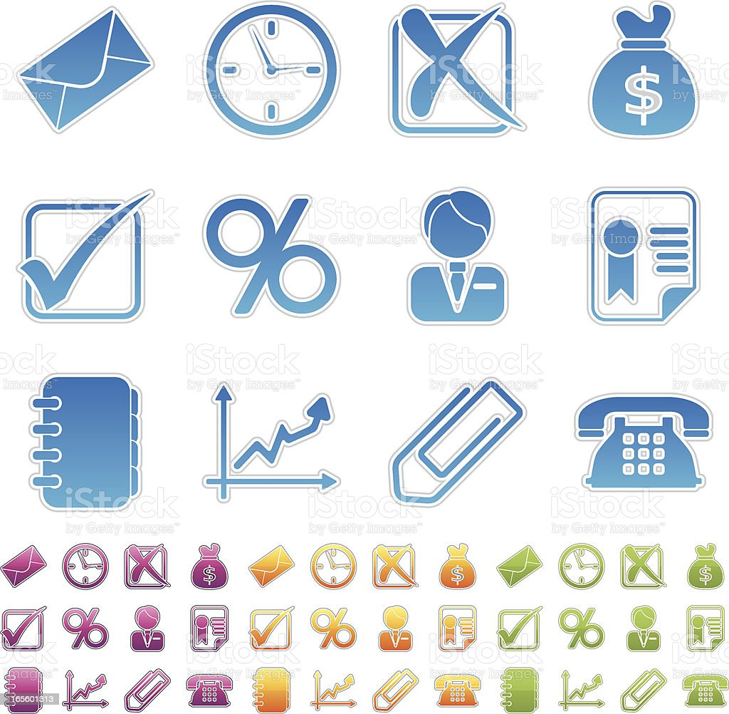 simple icons - business royalty-free stock vector art