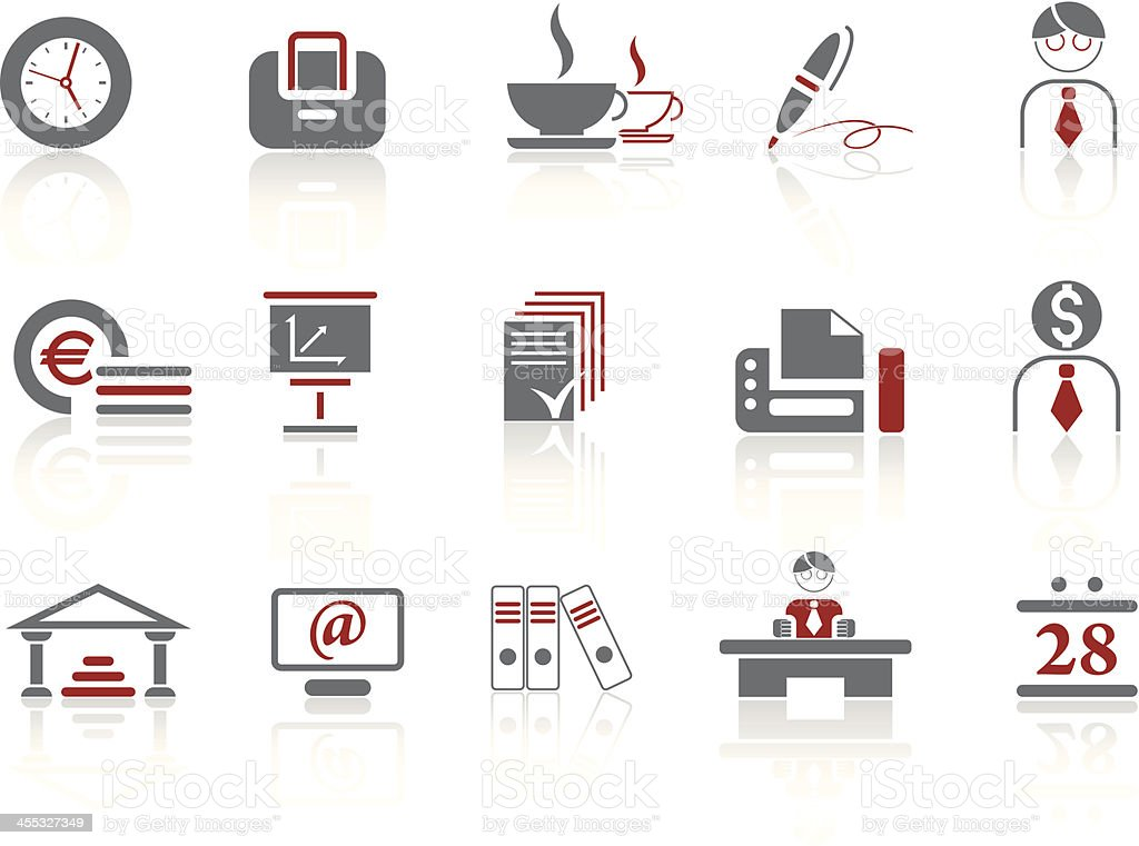 Simple icons- Business royalty-free stock vector art