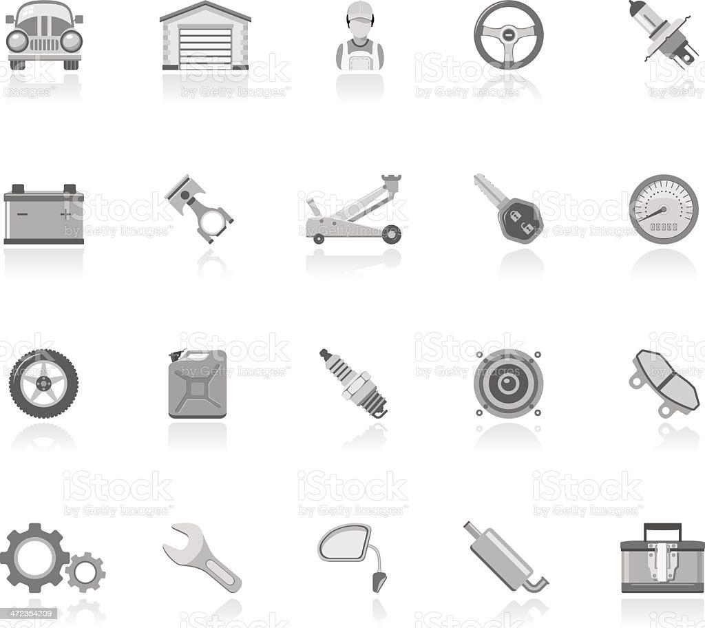 Simple Icons - Car Maintenance royalty-free stock vector art