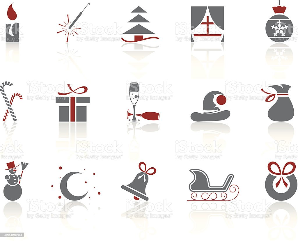 Simple icons – Christmas/Winter royalty-free stock vector art