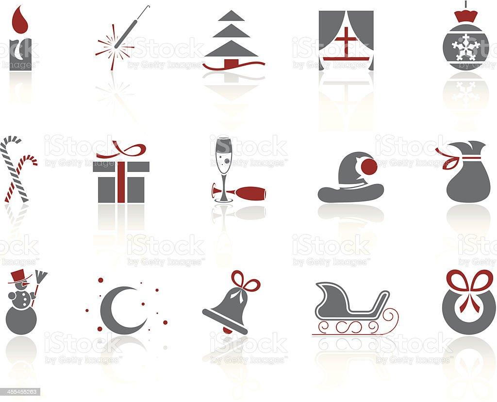Simple icons – Christmas/Winter vector art illustration