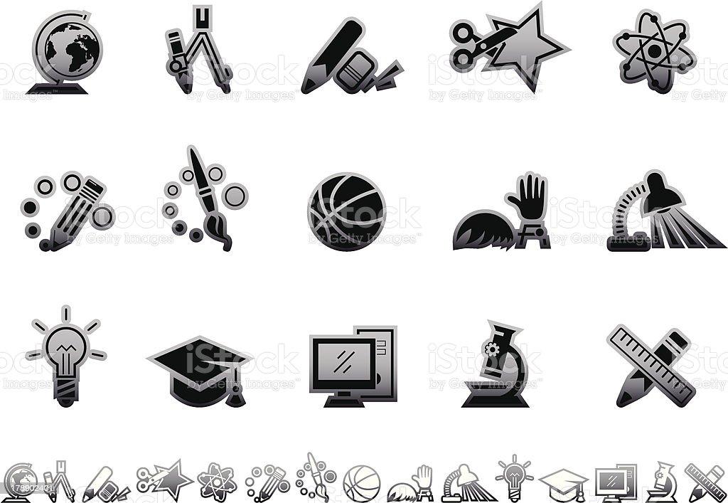 Simple icons – Education vector art illustration
