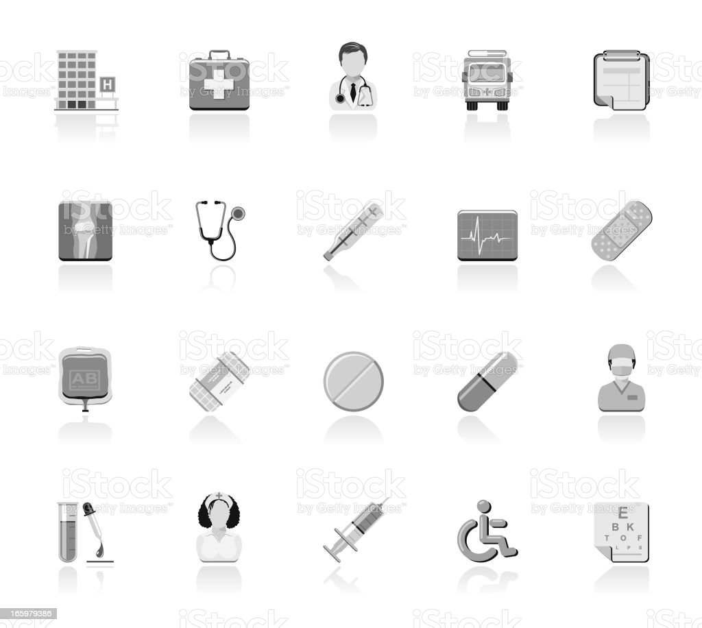 Simple Icons - Healthcare royalty-free stock vector art