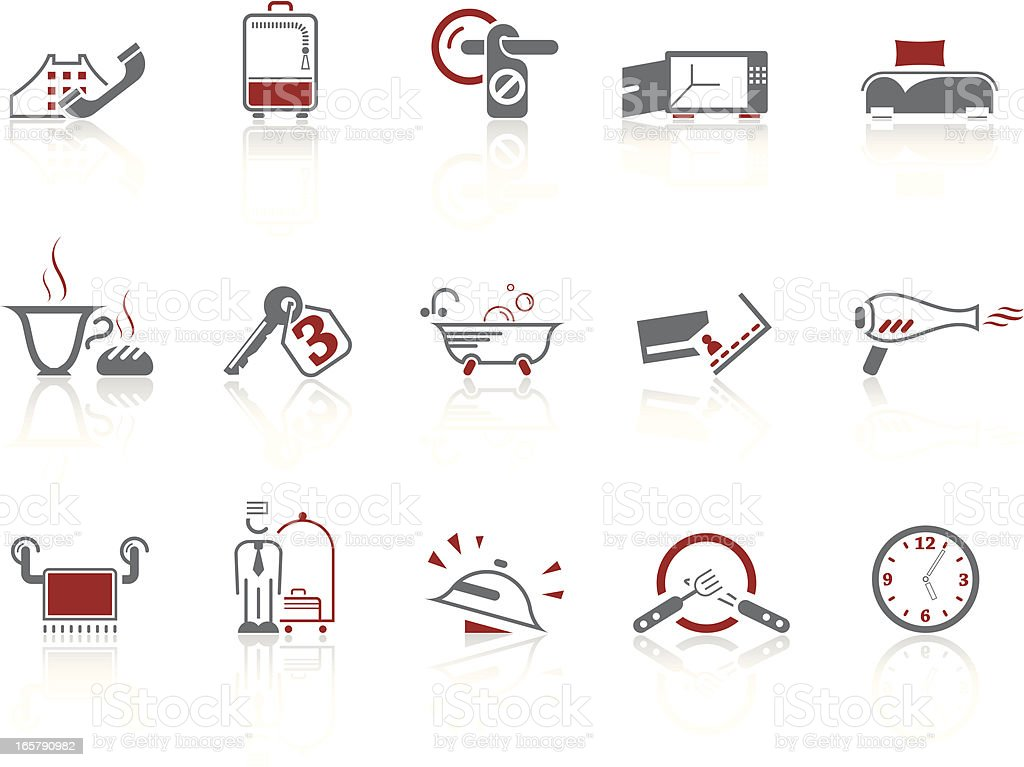 Simple icons – Hotel vector art illustration