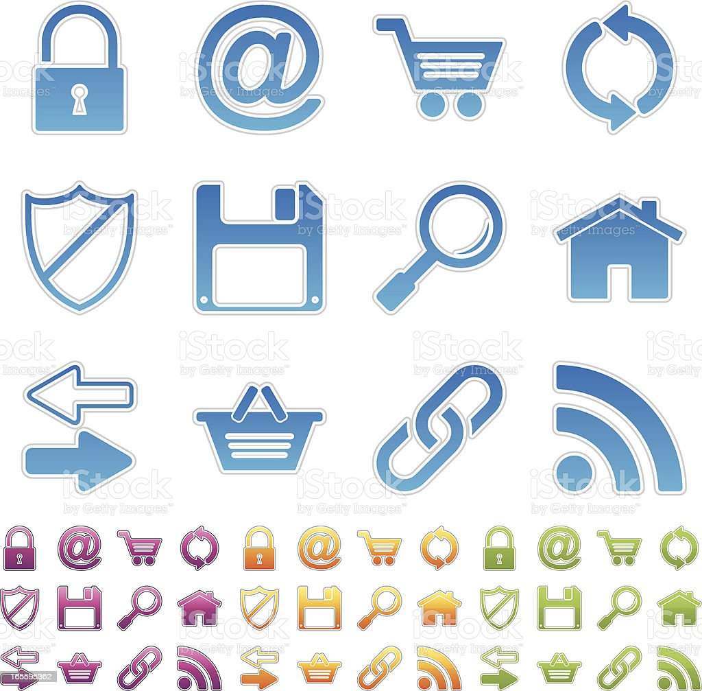 simple icons - internet royalty-free stock vector art