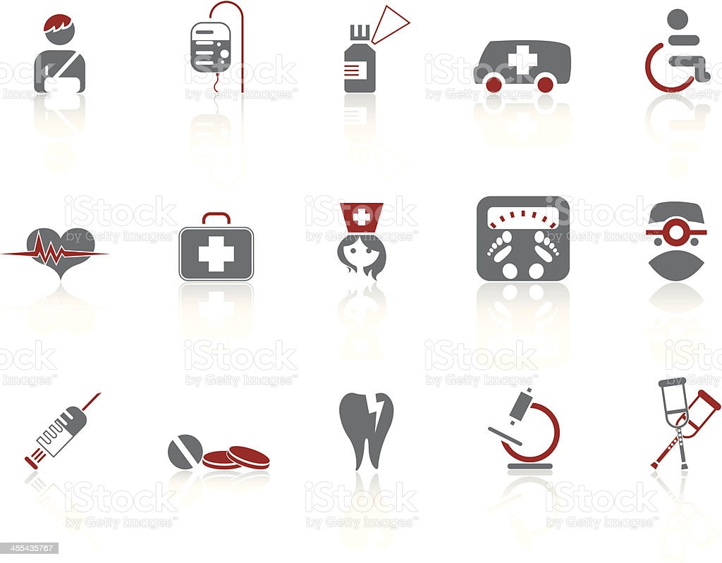 Simple icons – Medicine vector art illustration