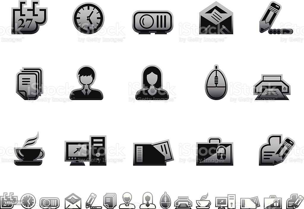Simple icons – Office royalty-free stock vector art